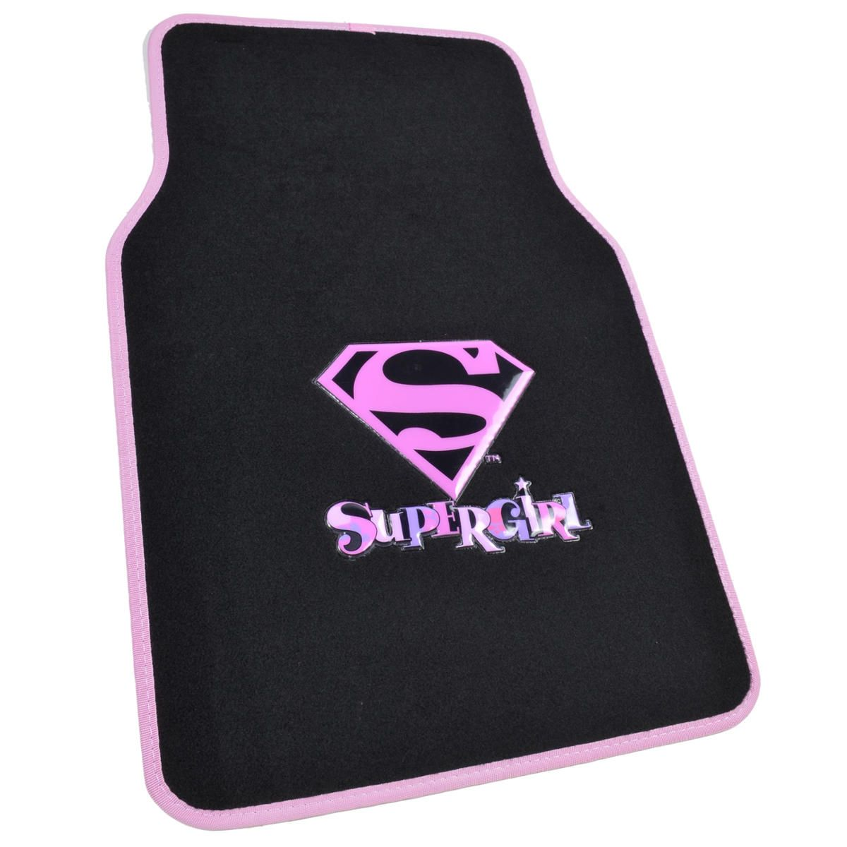 Super Girl Car Floor Mats 4 Pieces Character Floor